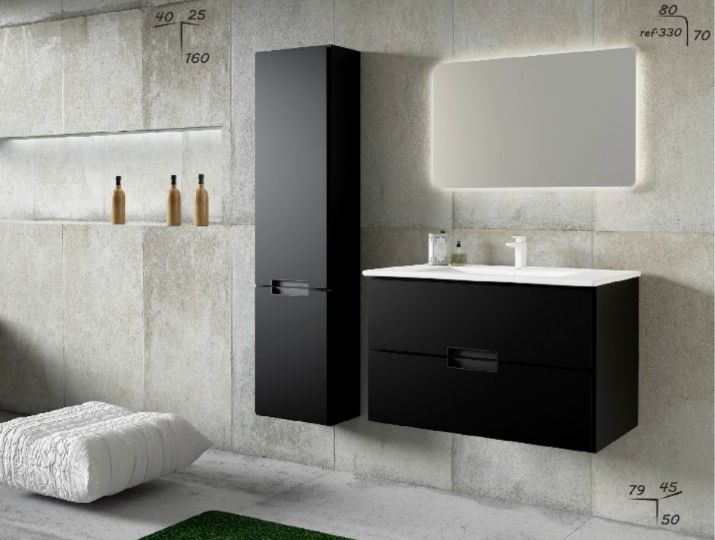 Meuble ref ADELE Coloris Noir Granitlook